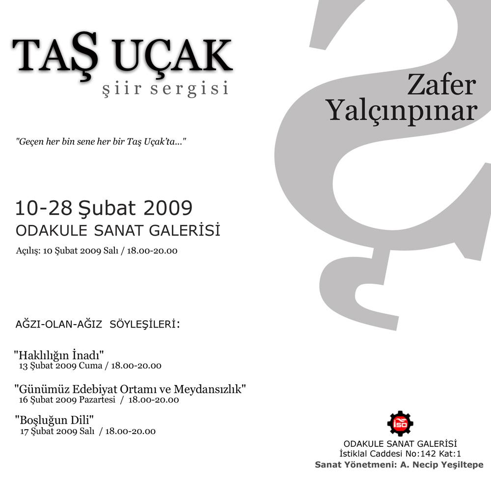 Ta Uak Iir Sergisi 10 28 Ubat 2009 Odakule Sanat Galerisi
